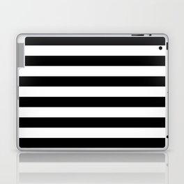 Black White Stripe Minimalist Laptop & iPad Skin