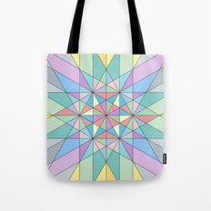 Colorful Pastel Mosaic Triangle Star Tote Bag