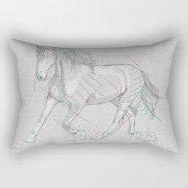horse lineart Rectangular Pillow