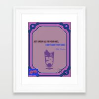 ale giorgini Framed Art Prints featuring Ginger Ale by The_Section
