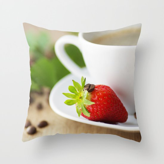 coffee sense Throw Pillow
