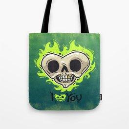 Burning Dead Heart Loves You Tote Bag