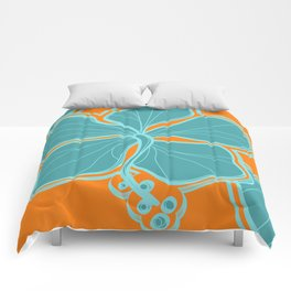 Kailua Hibiscus Hawaiian Engineered Floral Comforters