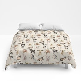 Vintage Goat All-Over Fabric Print Comforters