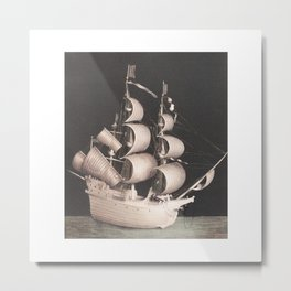 Table top ship Metal Print