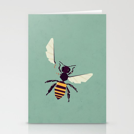 H is for honey bee  Stationery Cards