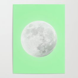 WHITE MOON + LIME SKY Poster
