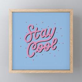 Stay Cool / Pink & Black Framed Mini Art Print