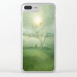 Greenery Sunrise Clear iPhone Case
