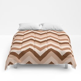 Brown Chevrons Pattern Comforters