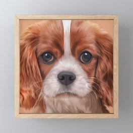 Drawing Cavalier King Charles Spaniel Framed Mini Art Print