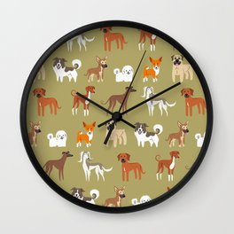 AFRICAN DOGS Wall Clock