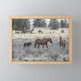 Staying Close to Mama Framed Mini Art Print