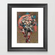 Faithful Blade Framed Art Print