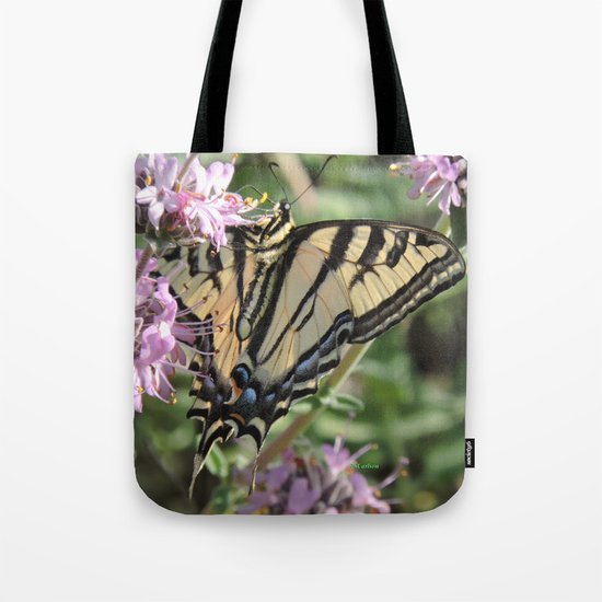 Western Tiger Swallowtail on Lemon Blossoms Tote Bag