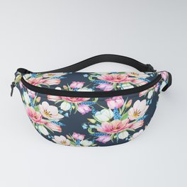 tulips on dark background Fanny Pack