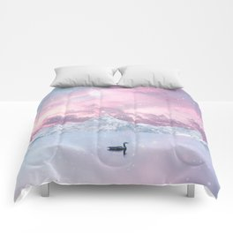PINK COSMIC SUNSET Comforters