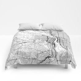 Portland Map White Comforters