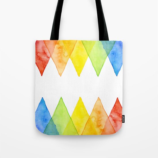 Geometric Watercolor Shapes Triangles Pattern Tote Bag