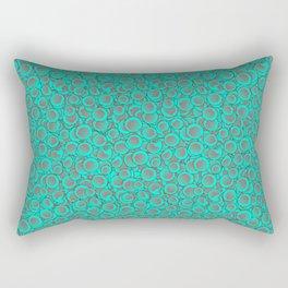 Red Blue Circles Pattern Rectangular Pillow