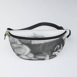 Husky and Wolf Pup Chilling Fanny Pack