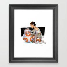 TFA - Rey & BB8 Framed Art Print