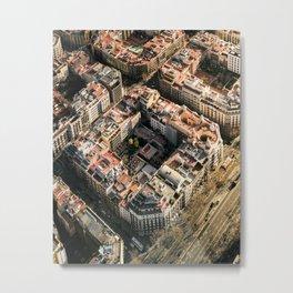 Apartment Block in Barcelona Metal Print