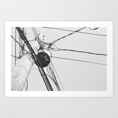 You Got Your Wires Crossed? Art Print