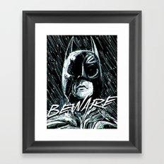 Beware of the Bat Framed Art Print