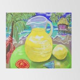 Lemon Paradise Throw Blanket