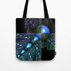 Squares and Spheres Tote Bag