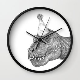 Party Dinosaur Wall Clock