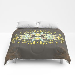 2941-Phebalium-Abstract-Brown Comforters