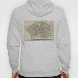 Vintage Map of Frankfurt Germany (1837) Hoody