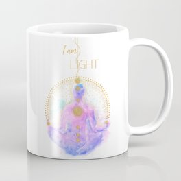 I am Light | Modern Energy Art | Meditation Spiritual Illustration  Coffee Mug