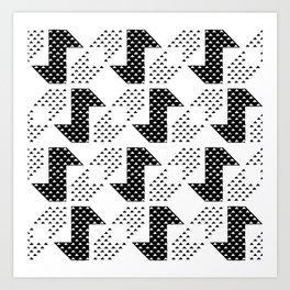 Clover&Nessie Black/White Art Print
