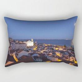 Moon over Lisbon Rectangular Pillow