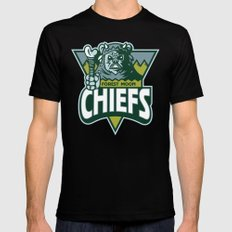 Forest Moon Chiefs - Green Black MEDIUM Mens Fitted Tee