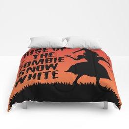 Halloween Zombie Snow White Humor Horror Comforters