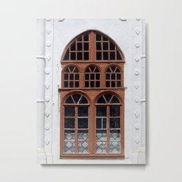 Window architecture Ukrainian Baroque the fragment of the building Metal Print