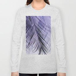 Palm Leaves On A Violet Background #decor #society6 #buyart Long Sleeve T-shirt