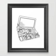 Laptop Surroundings Framed Art Print