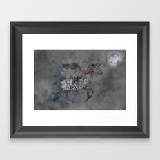 Safari moon Framed Art Print