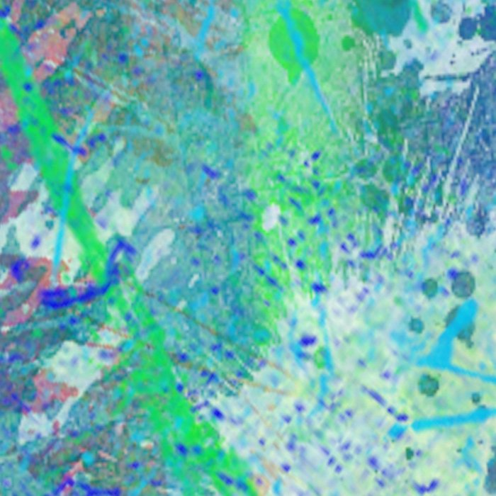 Aquatic Abstract - Blue and Green Leggings