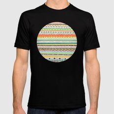 Pattern No.3 Black MEDIUM Mens Fitted Tee