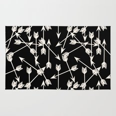 Arrows - Black and White by Andrea Lauren Rug