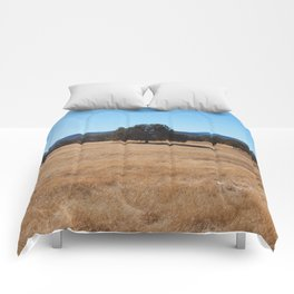 Fall Field Photography Print Comforters