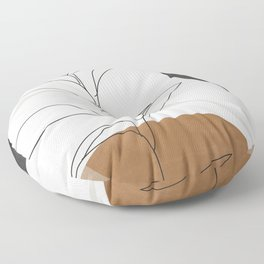 Abstract Art /Minimal Plant Floor Pillow