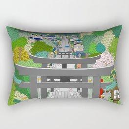 Passage to Light - Miyajidake Shrine Rectangular Pillow