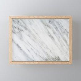 Carrara Italian Marble Framed Mini Art Print